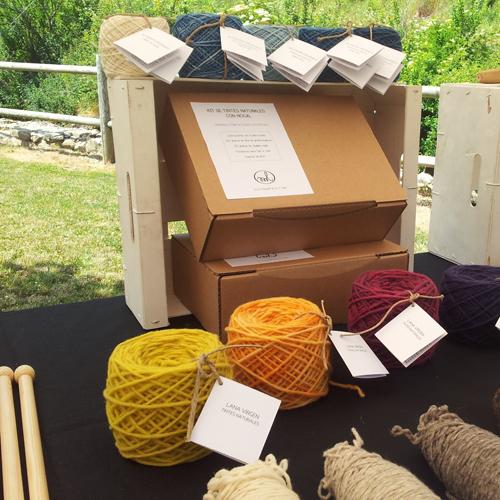 lanas teñidas con tintes naturales
