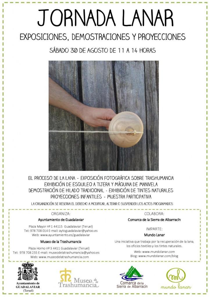 Cartel Jornadas Lanares de Guadalaviar