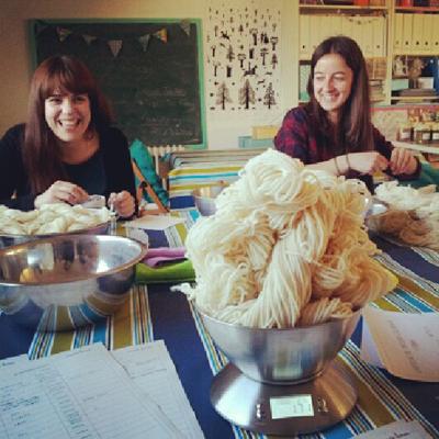 Pesando la lana