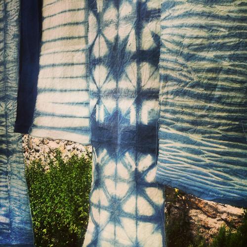 Shibori sobre algodón