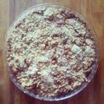 Tarta de manzana crocante