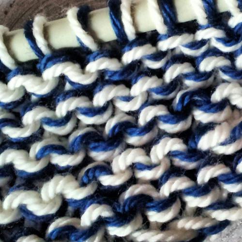 Detalle del proceso de tejido