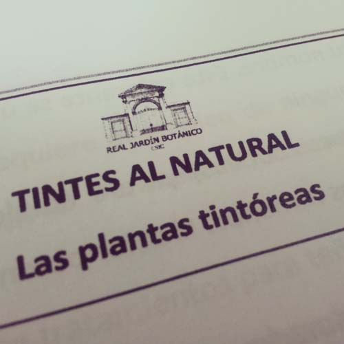 El taller de tintes naturales del botánico