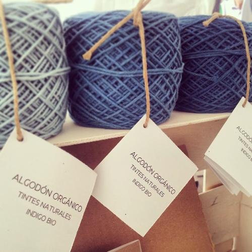 algodón orgánico teñido con tintes naturales por mundo lanar