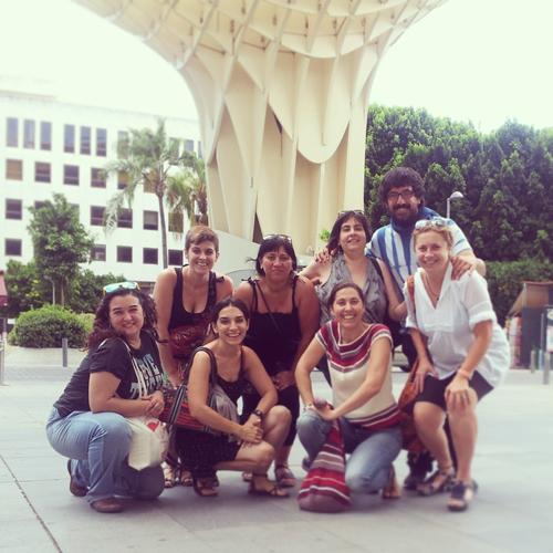 reencuentro en las setas de Sevilla