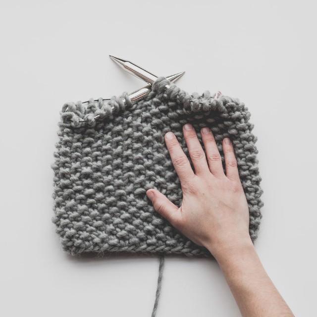 Cuello de Lana Merino tejido por Emilie de Lehandmade