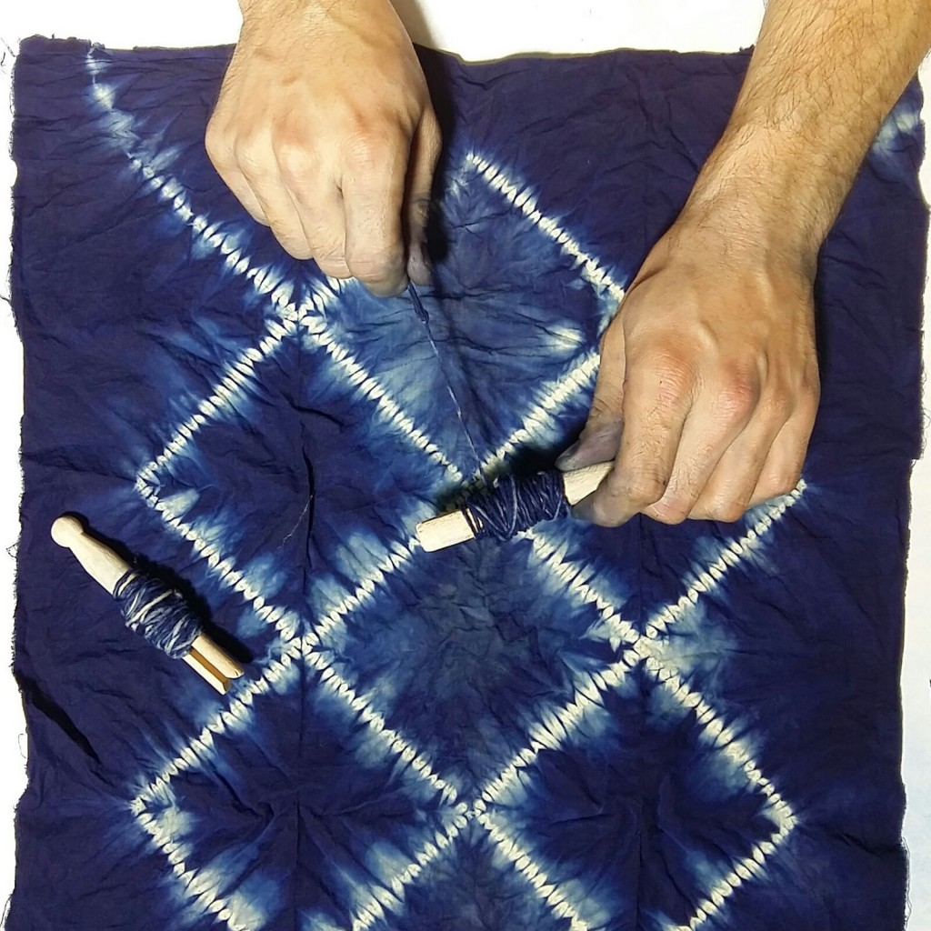 Shibori con Índigo_ Cursos en The Dyer's House