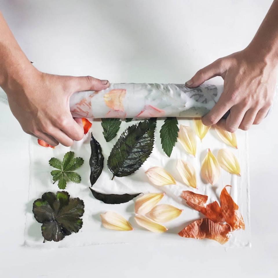 Curso de Ecoprint (Estampación Botánica) eb Algodón_The Dyer's House_Mundo Lanar_Romi & Ato